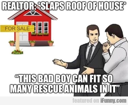 Realtor - Slaps roof of house - this bad boy...