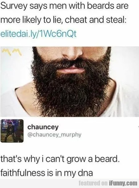 Survey Says Men With Beards Are More Likely...