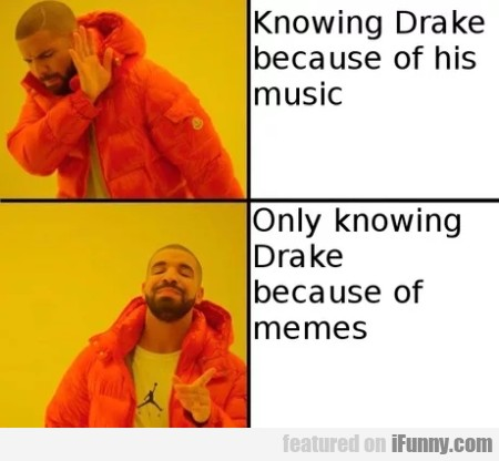 Knowing Drake Because Of His Music - Only...