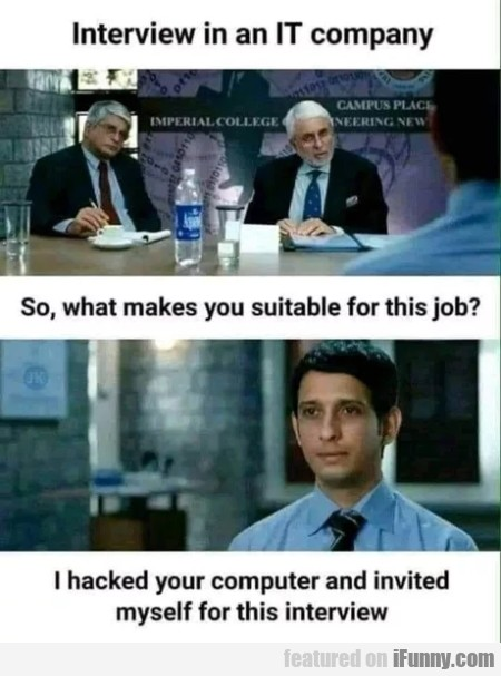 Interview In An It Company - So, What Makes...