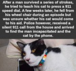 After A Man Survived A Series Of Strokes...