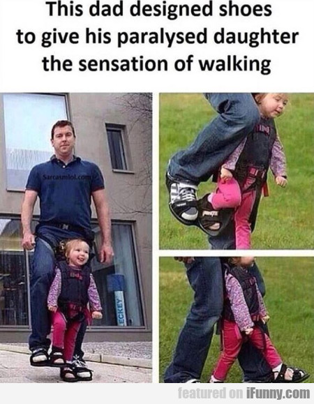 This Dad Designed Shoes To Give His Paralysed...