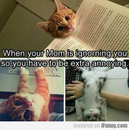 When Your Mom Is Ignoring You So You...