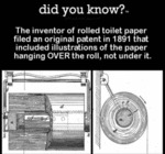 Did You Know - The Inventor Of Rolled Toilet..