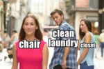 Chair - Clean Laundry - Closet