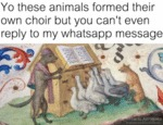 Yo These Animals Formed Their Own Choir But...