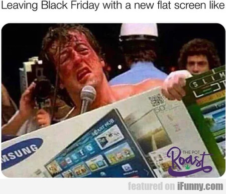 Leaving Black Friday With A New Flat Screen Like