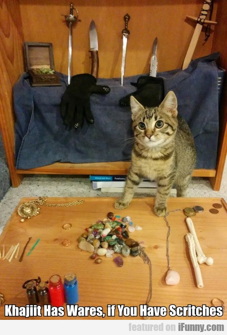 Khajiit Has Wares, If You Have Scritches