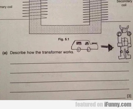Describe how the transformer works