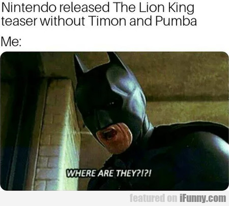 Nintendo Released The Lion King Teaser Without...