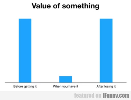 Value Of Something - Before Getting It...