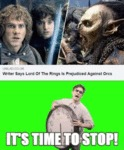 Writer Says Lord Of The Rings Is Prejudiced...