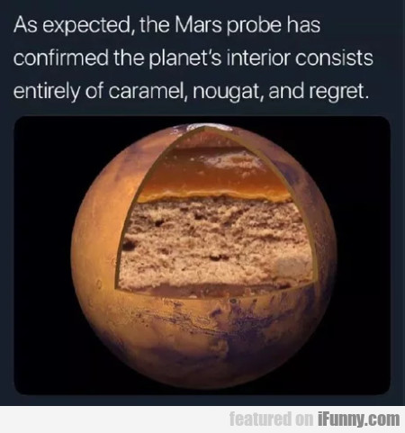 As Expected, The Mars Probe Has Confirmed The...