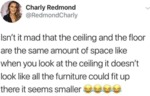 Isn't It Mad That The Ceiling And The Floor...