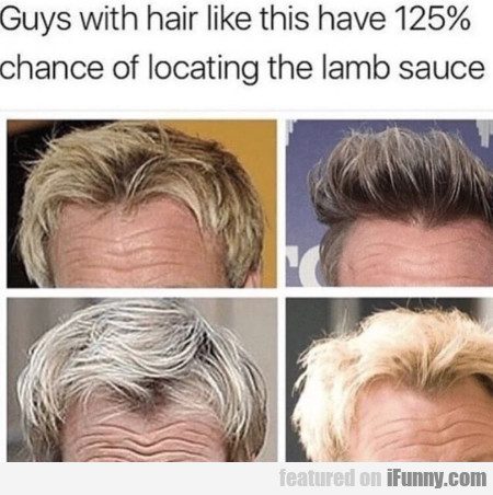Guys With Hair Like This Have 125% Chance Of...