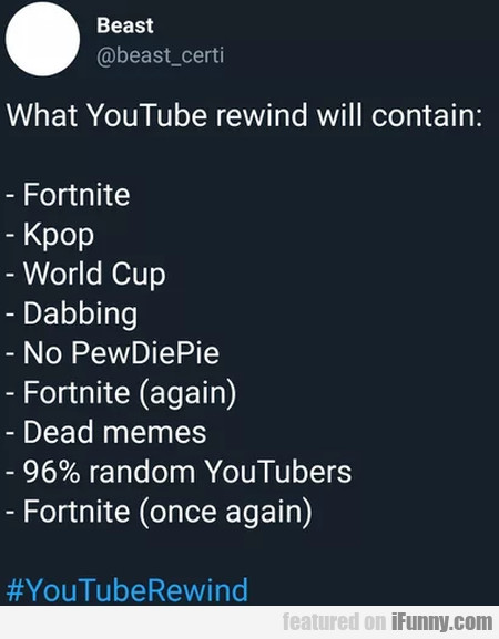 What Youtube Rewind Will Contain...