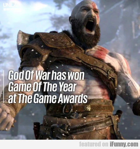 God Of War Has Won Game Of The Year At...