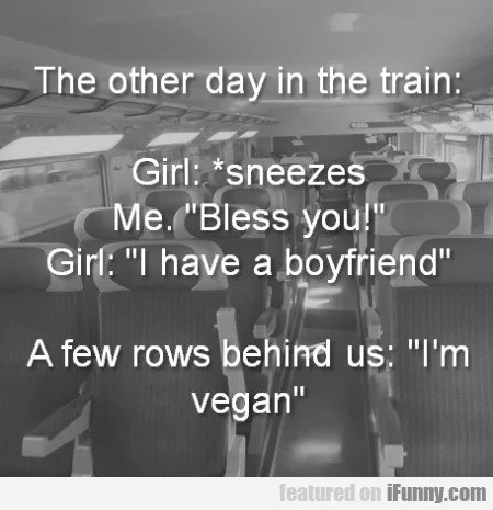 The Other Day In The Train - Girl - Sneezes...