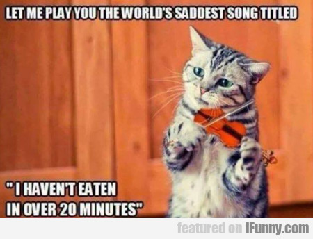 Let Me Play You The World's Saddest Song Titled...