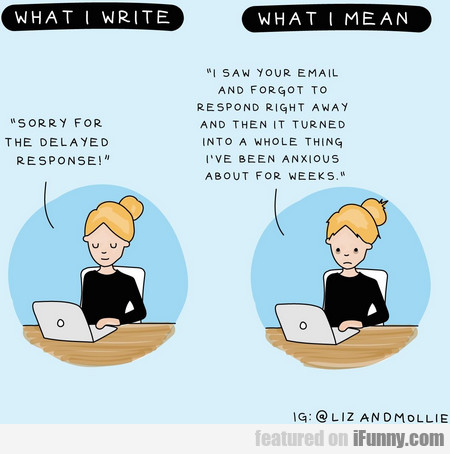 what i write & what i mean