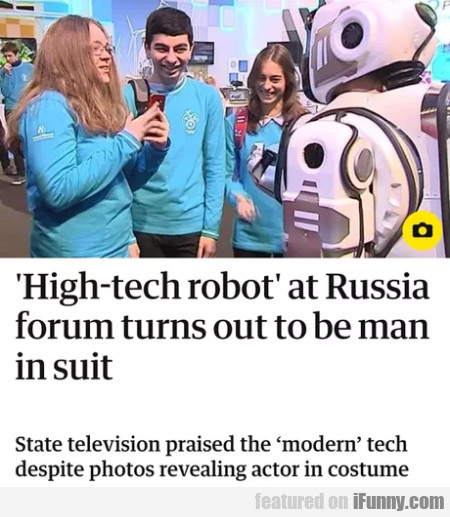 High-tech robot at Russia forum turns out...