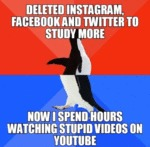 Deleted Instagram, Facebook And Twitter To Study..