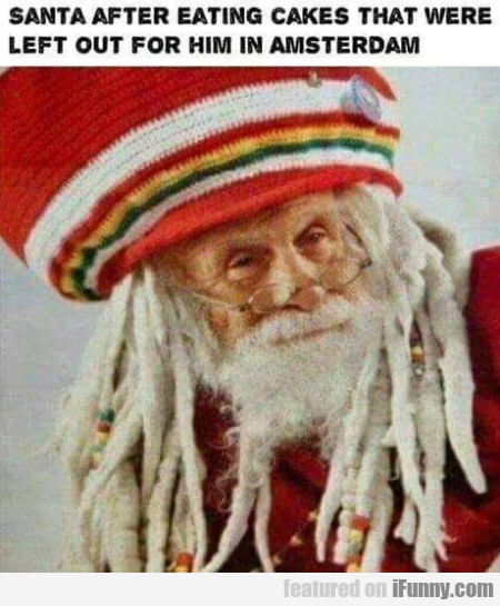 Santa After Eating Cakes That Were Left...
