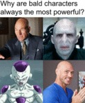 Why Are Bald Characters Always The Most...