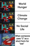 World Hunger - Climate Change - No Social Life