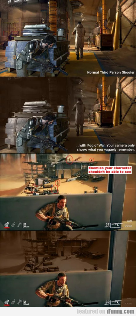 Normal third person shooter... with Fog of War...