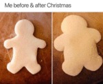 Me Before & After Christmas