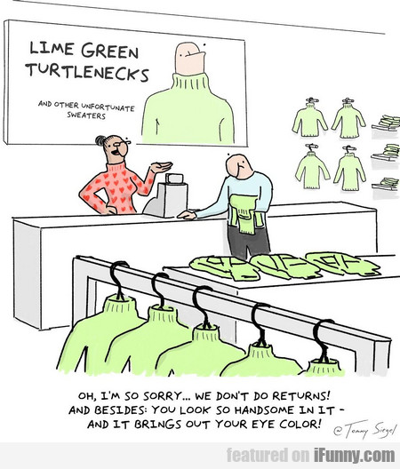 lime green turtlenecks and other unfortunate...