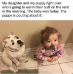 My Daughter And My Puppy Fight Over Who's...