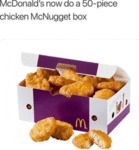 Mcdonald's Now Do A 50-piece Chicken...