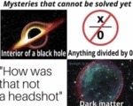 Mysteries That Cannot Be Solved Yet