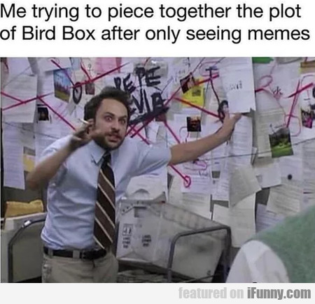 Me trying to piece together the plot of Bird Box