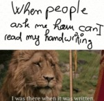 When People Ask Me How Can I Read My Handwriting..