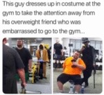 This Guy Dresses Up In Costume At The Gym...