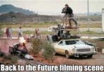 Back To The Future Filming Scene