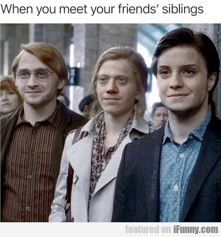 When You Meet Your Friends' Siblings