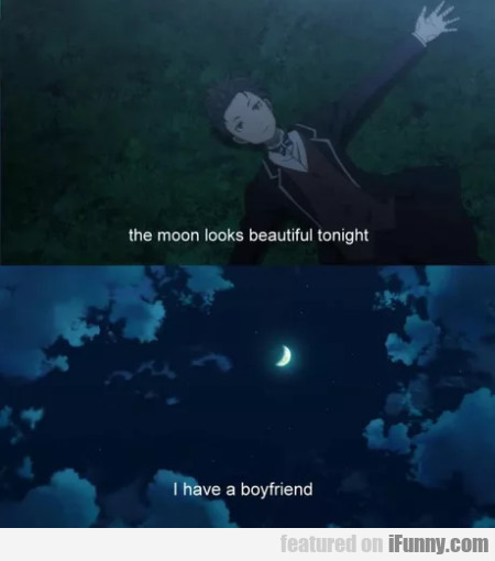 The Moon Looks Beautiful Tonight - I Have A...