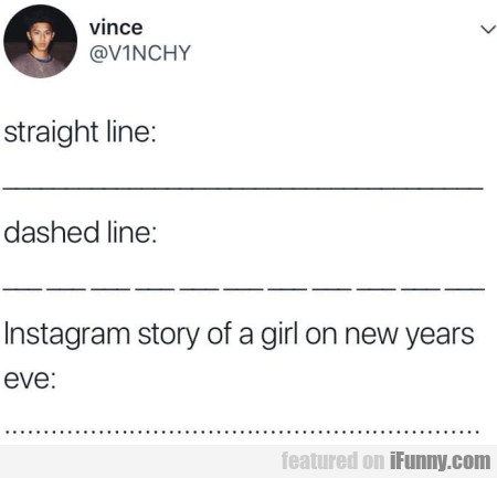 Straight Line - Dashed Line - Instagram Story...