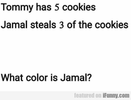 Tommy Has 5 Cookies - Jamal Steals 3 Of The...
