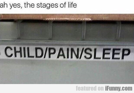 Ah Yes, The Stages Of Life