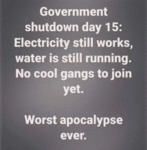Government Shutdown Day 15 - Electricity Still...