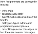 How Programmers Are Portrayed In Movies - White...