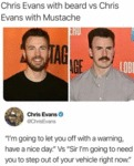 Chris Evans With Beard Vs Chris Evans With...