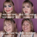 What Men Think Heavy Make Up Is