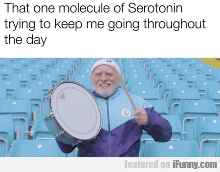 That One Molecule Of Serotonin Trying To...