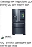 Samsung's New Fridge Will Ping Your Phone If You